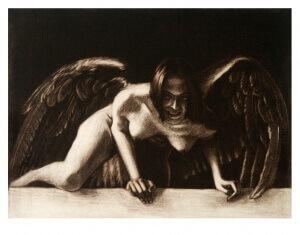 Aus einer anderen Welt, Mezzotinto, 15 x 20 cm, 2005