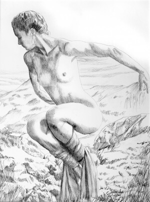 Balance, Charcoal on paper, 30 x 40 cm, 2012