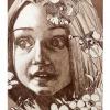 Blumengesicht, Radierung, 10 x 15 cm, 2005