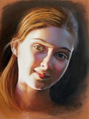 Dea, Soft pastel on paper, 40 x 60 cm, 2006