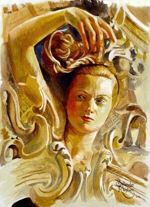L'immortalité de l'âme 3, Gouache on paper, 30 x 40 cm, 2012