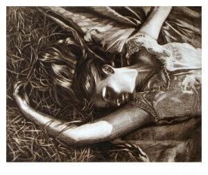 Im Traum, Mezzotinto, 20 x 25 cm, 2005