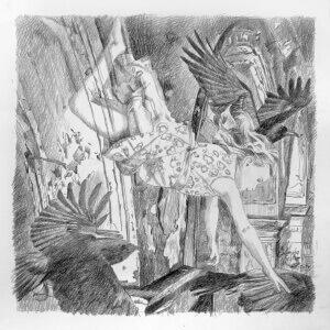 Kinderseelen, die noch niemals sangen, Pencil on Paper, 24 x 24 cm, 2014