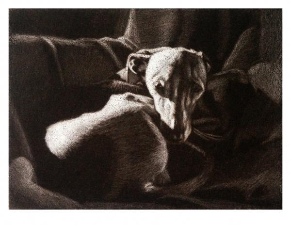 Nafteta, Mezzotinto, 12 x 16 cm, 2005