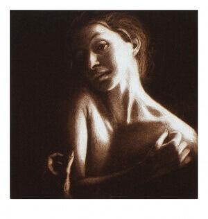Schattenspiel, Mezzotinto, 10 x 10 cm, 2006