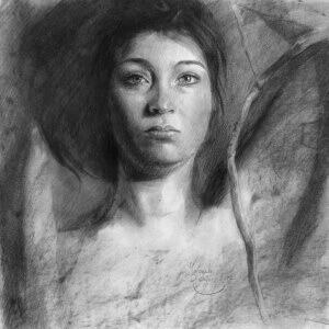 Sweet laments, Charcoal on paper, 29 x 29 cm, 2017