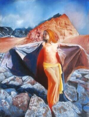 Weltenseele, Soft pastel on paper, 30 x 40 cm, 2006