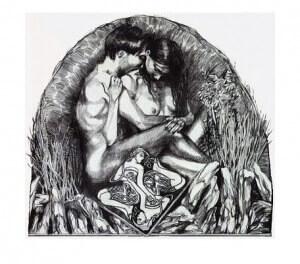 Zeitenlos, Alugraphie, 12 x 16 cm, 1998