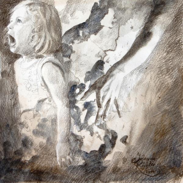 Original Zeichnung Jolanda Richter 'Sream'