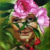 Blumengesicht | Öl auf Leinwand | Oil on canvas