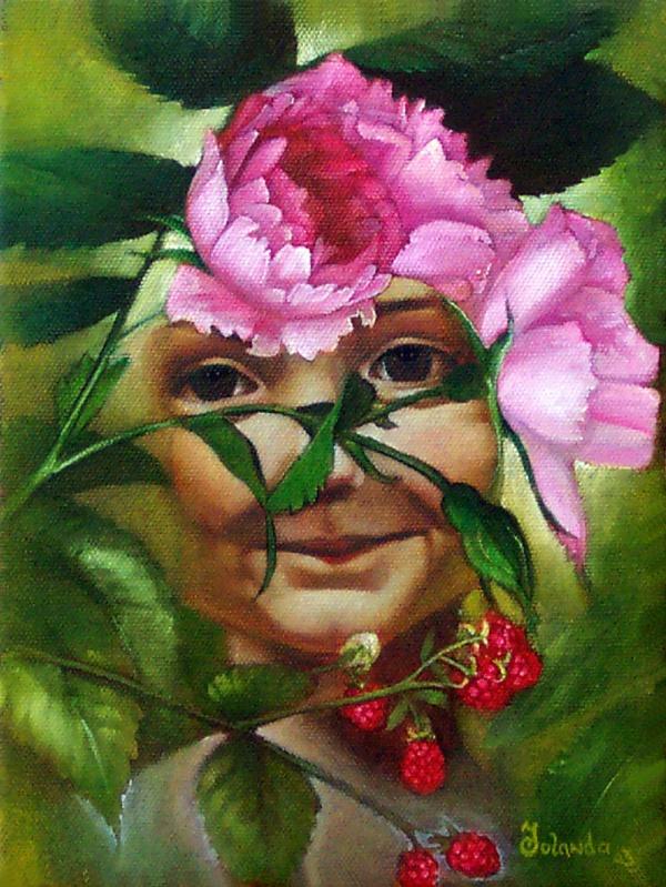 Blumengesicht   Öl auf Leinwand   Oil on canvas