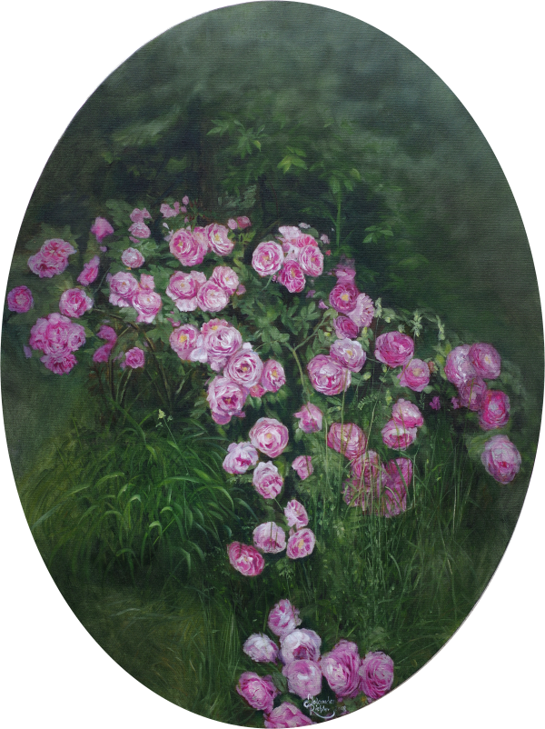 Rosen | Oil on canvas | Öl auf Leinwand 'Queen of Bourbons'