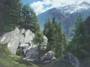 'Tauerntal bei Jannighütte'  Oil on canvas | Öl auf Leinwand