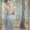 Oil on canvas   Öl auf Leinwand 'Nur diese weite, weiße Stille'
