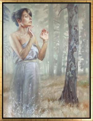 'Nur diese weite, weiße Stille' | Oil on canvas