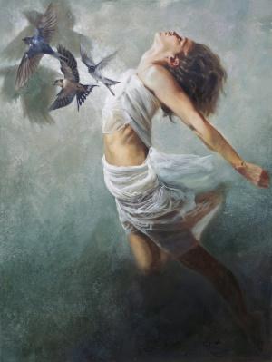 'Und alles Dunkel schwand 1'  Oil On Canvas