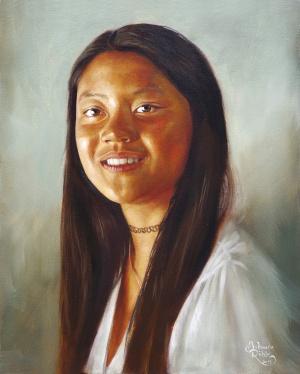 Portrait L., Öl auf Leinwand, 40 x 50 cm, 2019