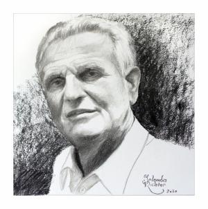 Portrait, Kohle auf Papier, 29 x 29 cm, 2020