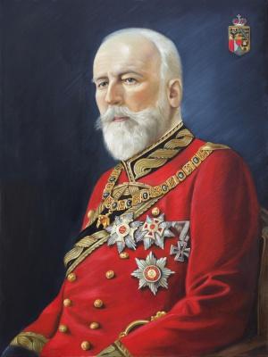 Ölkopie 'Franz I - Fürst v.u.z. Liechtenstein', Oil on canvas, 60 x 80 cm, 2019