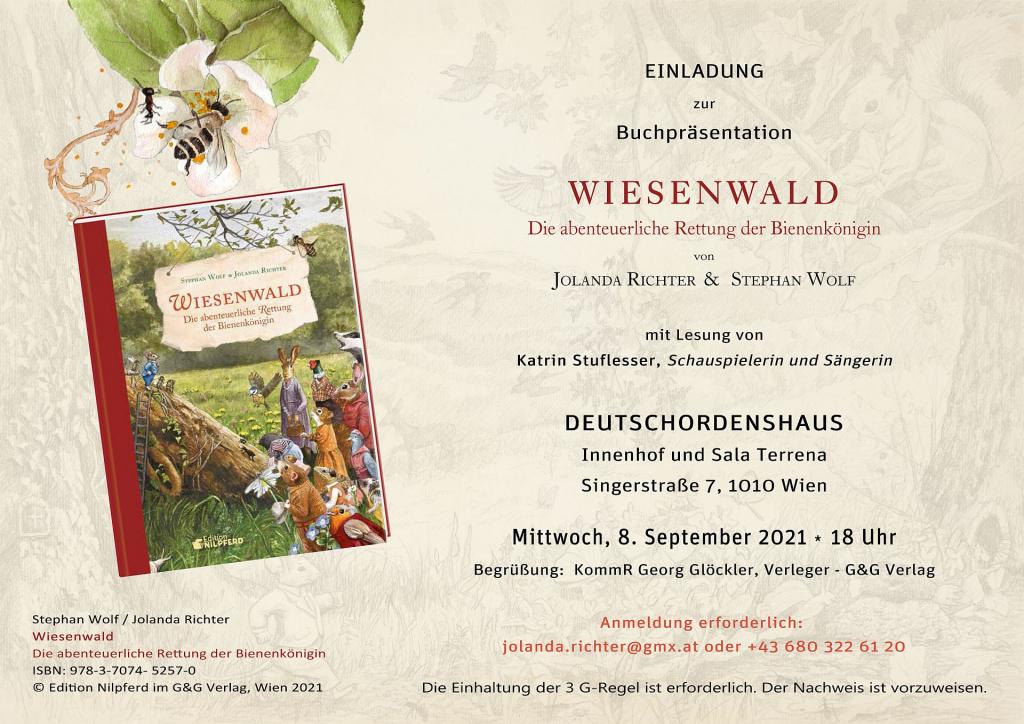 """Buchpräsentation """"Wiesenwald"""", Wien, Innenhof Deutschordenshaus"""